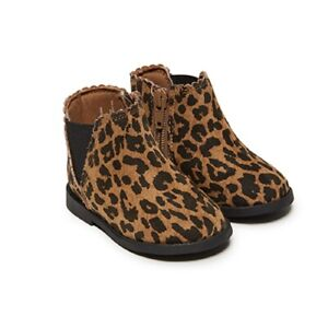 Baby Girls Boots Size 3 or 6 Leopard