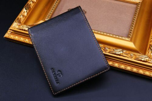 Genuine Leather Bifold Wallet RFID Blocking ID Credit Card Best Gift for Men