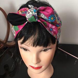 Hair Band Bandana RETRO 50's Land Girl Hair Scarf Self Tie  Rockabilly
