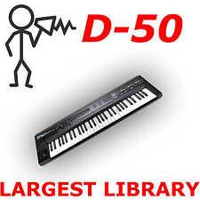 Roland D-50 D-550 VC-1 VariOS 30,000 Largest Patch Sound Program Library