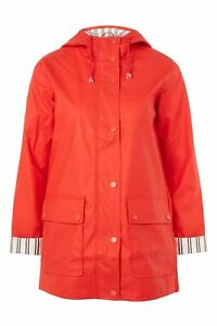 find lowest price quality design recognized brands Details about TOPSHOP RRP £49 red jacket Rain Mac 6 jacket NEW WITH TAGS