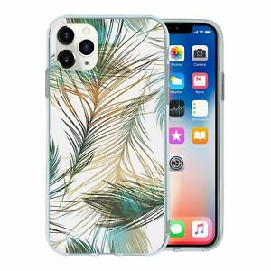 For-Apple-iPhone-11-PRO-MAX-Silicone-Case-Feathers-illustration-Pattern-S274