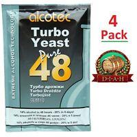 4 Pack Alcotec 48, Turbo Super Yeast, vodka, beer, wine