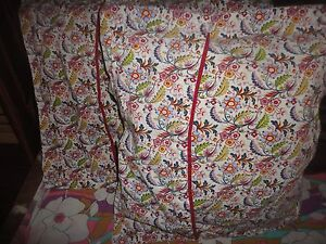ikea alvine gava red pink cream green floral 2 square pillow covers shams 19 ebay. Black Bedroom Furniture Sets. Home Design Ideas