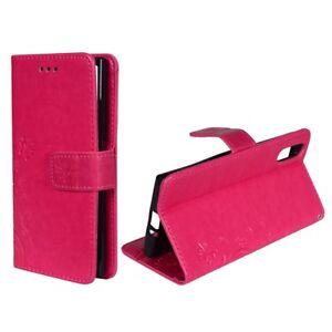 Etui-Coque-Fleurs-pour-telephone-mobile-Sony-Xperia-XZ-ROSE-Portefeuille-etui