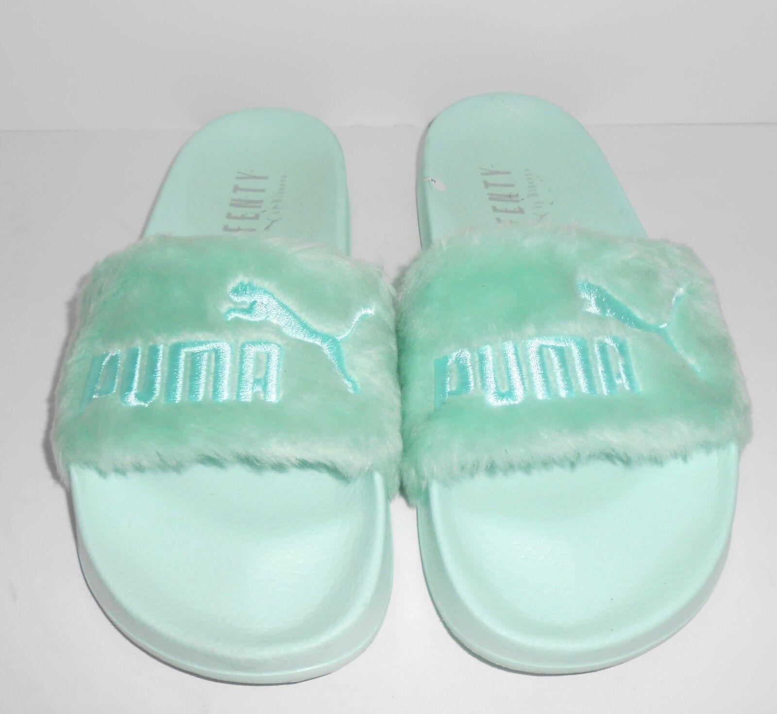 Fenty Fenty Fenty Puma Faux Fur Slides bluee(Bay) Size 7.5 b8a375