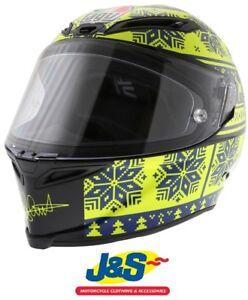 Agv Corsa Rossi Winter Test Snowflake Motorcycle Helmet Race Replica 46 Racing Ebay