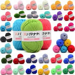 Hot-46-colors-Crochet-Soft-Bamboo-Cotton-Knitting-Yarn-Baby-Wool-Yarn-25g