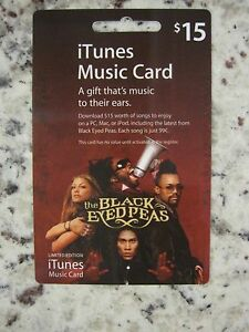 Black Eyed Peas Collector's Edition iTunes Music Card USED