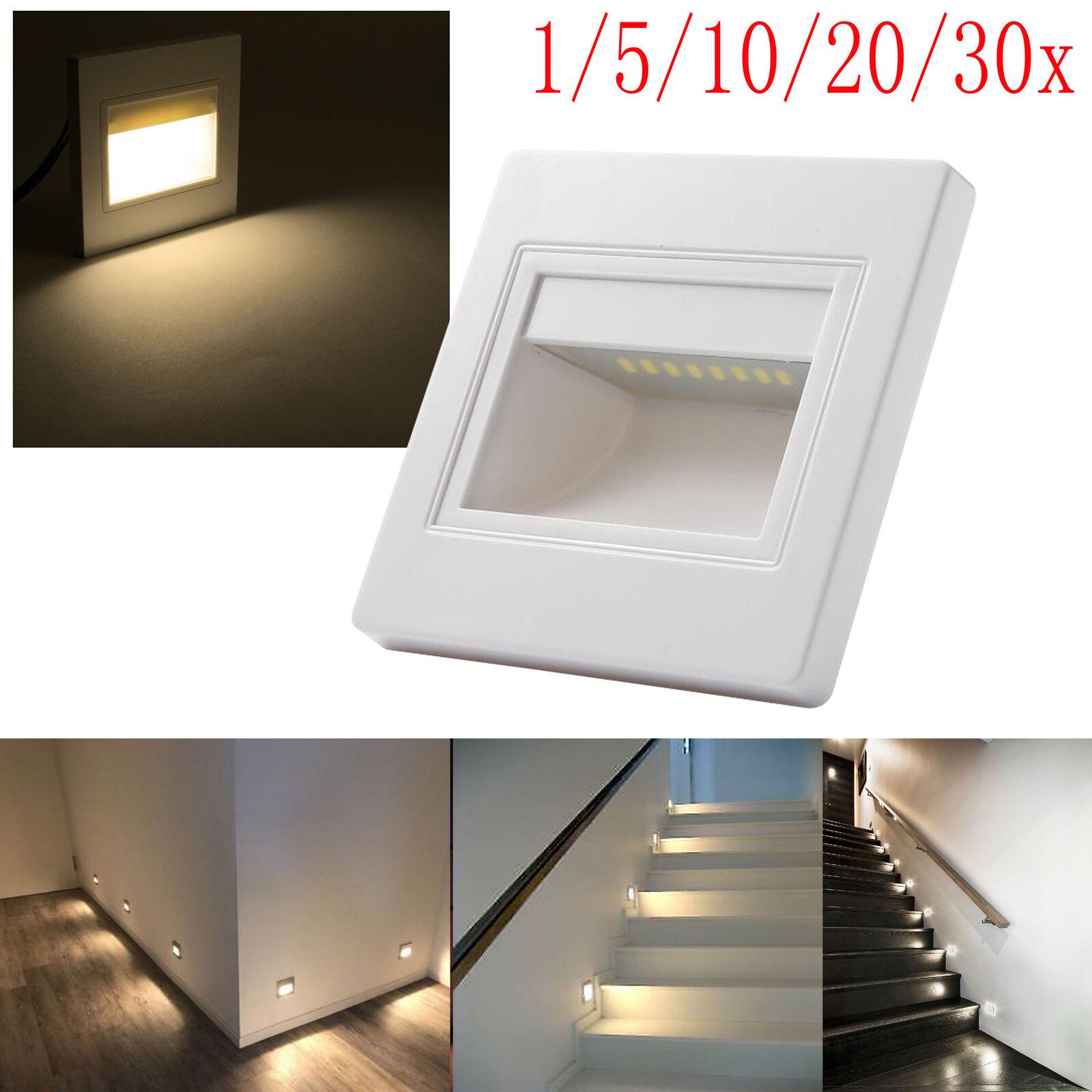 0,6W Warmweiß LED-Lampe Treppen & Wandeinbauleuchte Stufenleuchte Licht 230V   | Luxus  | Perfekt In Verarbeitung  | Preisreduktion