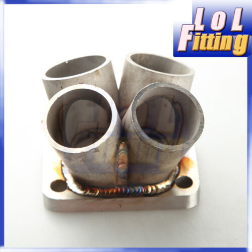 4-1 4 Cylinder Manifold Header Merge Collector Stainless Steel T25 T28 Flange
