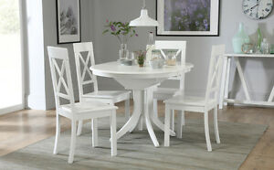 Hudson Kendal White Dining Table 4 6 Chairs Set Ebay