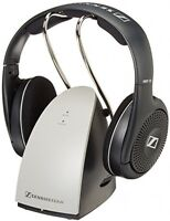 Wireless Rf Headphones On Ear Charging Cradle Hi-fi Audio Tv Surround Headsets