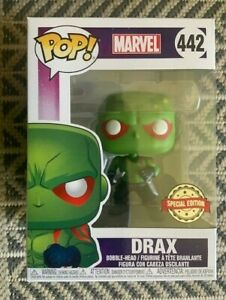 RARE-Drax-442-Funko-Pop-Vinyl-New-in-Mint-Box-Protector