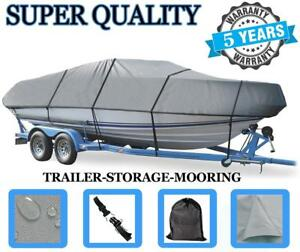 GREY-BOAT-COVER-FITS-Four-Winns-Boats-Unlimited-191-19-1996-1997-TRAILERABLE