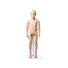 Realistic Fiberglass 6 Year Old Kids Fleshtone Mannequin With Flexible Joints