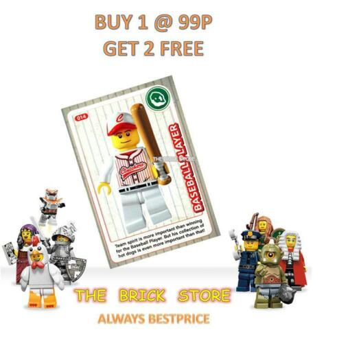 NEW GIFT BESTPRICE LEGO #014 BASEBALL PLAYER CREATE THE WORLD TRADING CARD