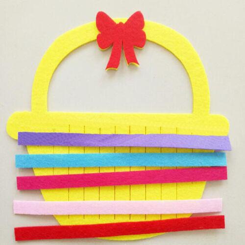 Multi-style Felt DIY Manual Weave Toys Early Education Prop for Kindergarten S