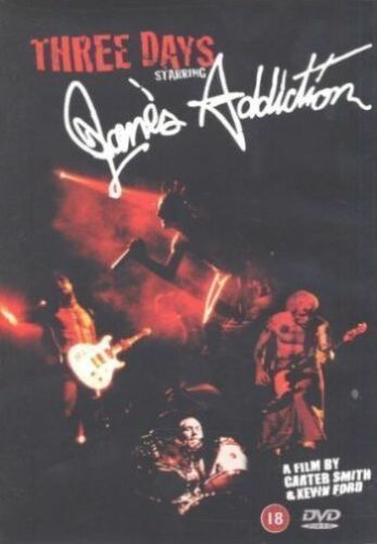 1 of 1 - Jane's Addiction: 3 Days [DVD] [2003], Very Good DVD, ,