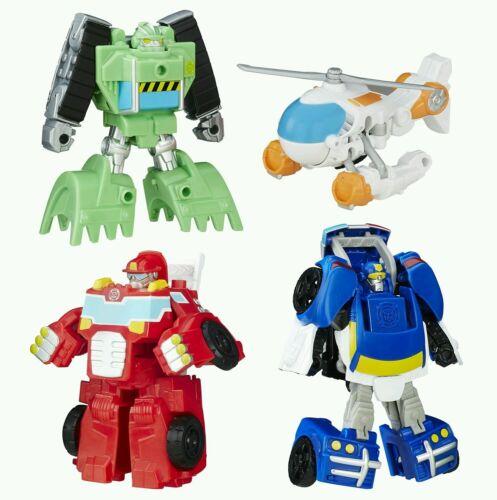 PLAYSKOOL Transformers Rescue Bots Griffin Rock Rescue Team Set de 4!