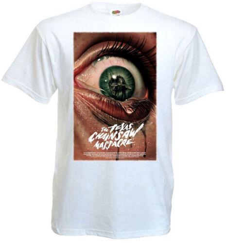 The Texas Chain Saw Massacre v17 T shirt white movie poster all sizes S-5XL