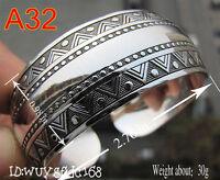 Tibetan beautiful Tibet Silver Lucky Totem Bangle Retro Cuff Bracelet No:32