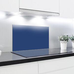 Splashback Vetro Temperato Resistente Al Calore Vetro Temperato decorativi – Blu scuro  </span>