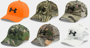 1a72ec692f1 Under Armour Men s UA Hunt Camo Adjustable Hat Hunting Snapback Cap ...