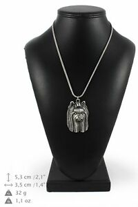 Yorkshire-Terrier-silver-plated-pendant-on-the-silver-chain-Art-Dog-IE