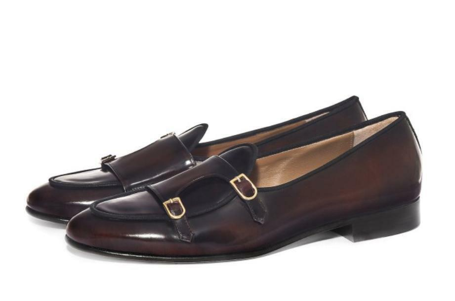 Real Leather DOUBLE STRAPs Mens Dress shoes Slip On Formal Dresses 38-44 Boots