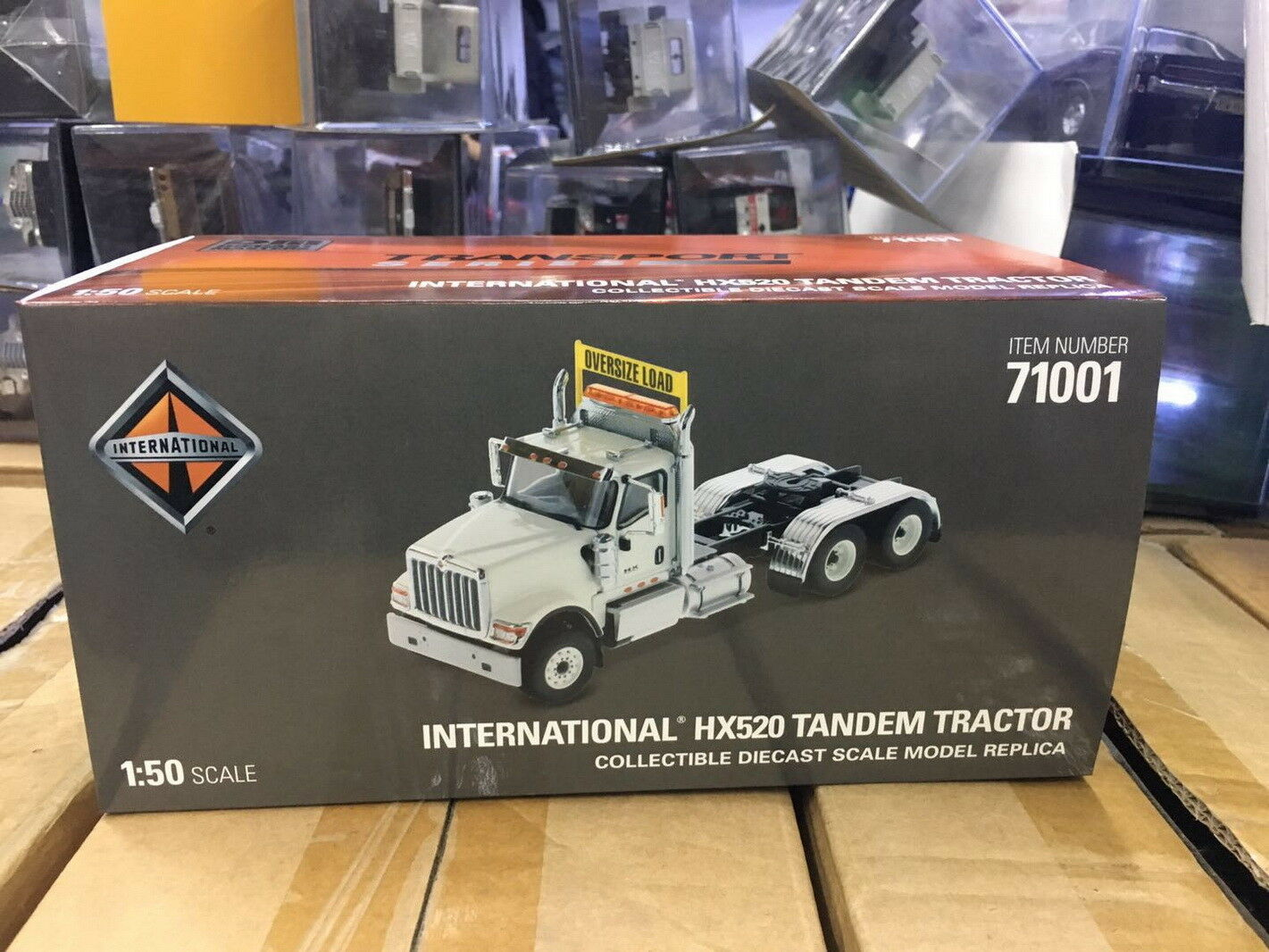 1 50 Scale International HX520 Tandem Tractor Tractor Tractor WHITE Diecast Masters DM71001 ee1281