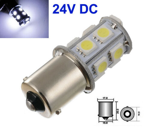 2 Stück Auto 24V BA15S 1156 13 SMD 5050 LED Weiß Standlicht Brems Rücklicht DHL