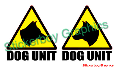 Sticker 150mm PATROL DOG Logo Yellow Background With Black Logo SECURITY