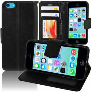 Etui-Coque-Housse-Portefeuille-Rabat-Cuir-PU-pour-Apple-iPhone-5C
