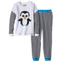 Girls Beanie Boos Pajamas Size 4 Waddles Penguin 2pc Set Long Sleeve Winter