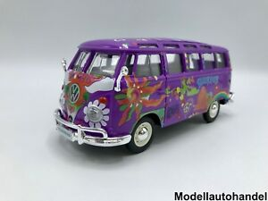 Volkswagen-VW-t1-samba-autobus-purpura-decoracion-hippie-1-25-maisto-gt-gt-sale-out-Price-lt
