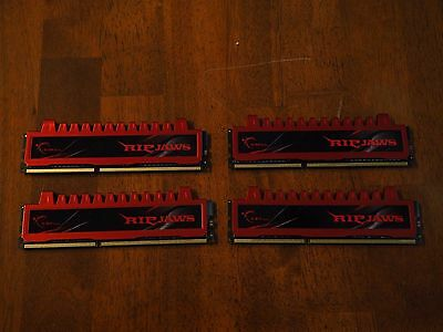G. Skill Ripjaws 4 x 4GB DDR3 1600MHz (F3-12800CL9D-8GBRL)