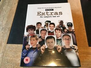Extras-BBC-TV-Complete-Comedy-Series-Box-Set-DVD-New-Sealed-Ricky-Gervais