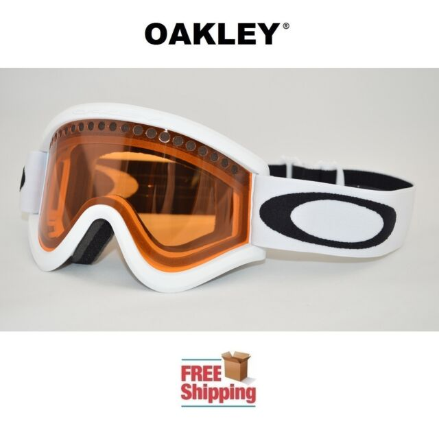 Oakley E Frame Snow Goggles Dual Lens Snowboard Ski Matte White ...