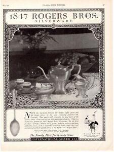 1921 ORIGINAL VINTAGE 1847 ROGERS BROS. SILVERPLATE SILVERWARE MAGAZINE AD