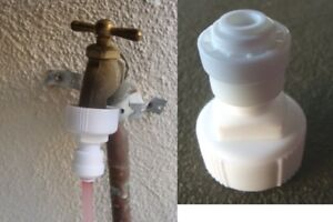 """Constructive Water Feeder Adapter For Ro System Garden Hose Under Sink 1/2"""" And 3/8"""" Faucet Fish & Aquariums"""