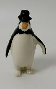 PENGUIN with TOP HAT Miniature Figurine - Hagen Renaker