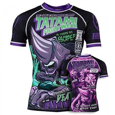 NEW Tatami The Anvil Rash Guard Short Sleeve BJJ  Mens Jiu Jitsu MMA Top