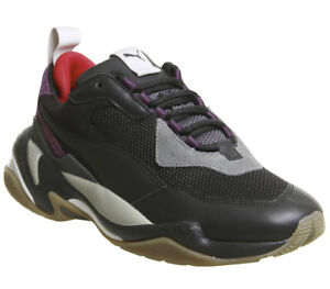 108f95e61439 Mens Puma Thunder Spectra Trainers Black Grey Purple Gum Trainers ...