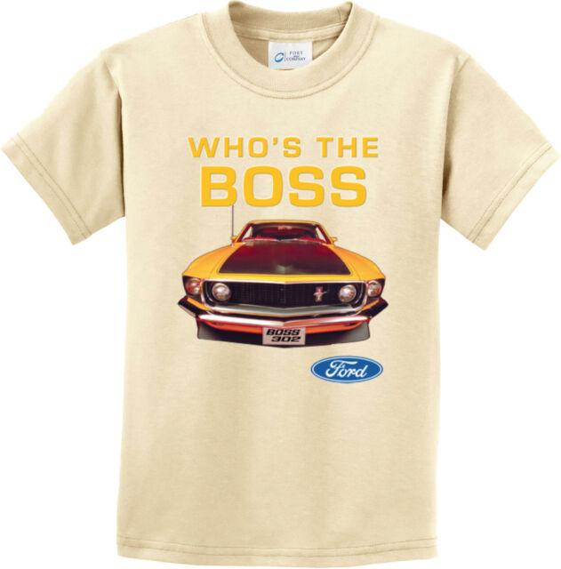Ford Mustang Classic Youth T-Shirt GT Cobra Boss 302 Mach 1 Tee