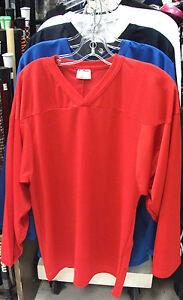 fc2ebf0da8a New Powertek ice hockey goalie goal practice jersey long sleeve red ...