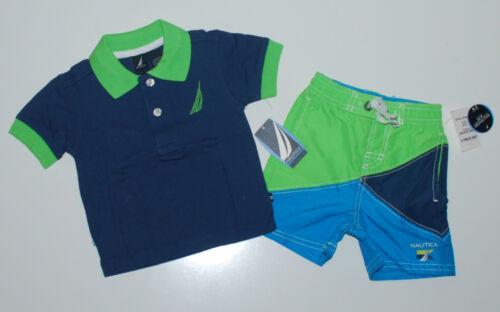 T-Shirt kurze Hose~USA~NAUTICA~80-86~UV Schutz~T-Shirt+Badehose~Polo~Shorts