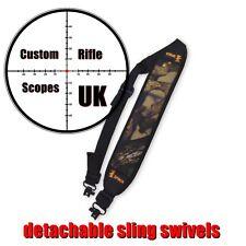 Rifle / shotgun sling in camo, Neoprene with quick detachable QD QR sling swivel