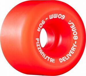 Powell-Peralta-X-Pizzanista-DELIVERY-RAT-BONES-Skateboard-Wheels-60mm-90a-RED