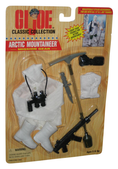 """GI Joe Classic Collection ARCTIC MOUNTAINEER MISSION GEAR Accessories for 12/"""""""